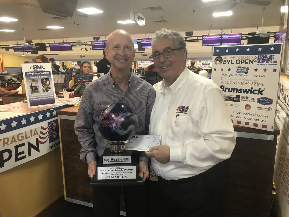 Here's what it's all about! Special thanks to John Weber and the PBA for their generous donation of $2,000 to the BVL on behalf of the Legends who bowled in our Clash. Thanks again,Johnny Petraglia, Walter Ray Williams Jr, Pete Weber, Amleto Monacelli & Parker Bohn III for being so generous!